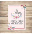the wedding of card flower floral pink background vector image
