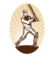 vintage cricket background vector image