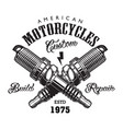 vintage motorcycle label concept vector image
