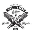 vintage motorcycle label concept vector image vector image