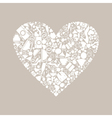 Wedding heart8 vector image vector image
