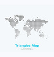 world map with triangles for business vector image vector image