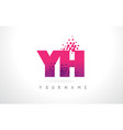 yh y h letter logo with pink purple color vector image vector image