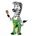 Zebra Mascot Painter vector image vector image