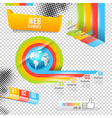 Modern Design Template with World Map vector image