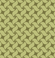 Green seamless pattern swirl leaves vector image