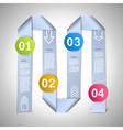 Step by step ribbons manual vector image