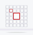 Abstract geometrical square background vector image vector image