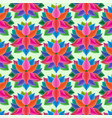 abstract seamless pattern with flowers floral vector image