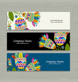 banners design floral background vector image vector image