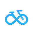 bike infinity logo icon design vector image