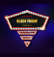 black friday retro light frame vector image