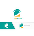 business real estate logo combination home vector image