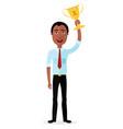 businessman african winner success concept vector image vector image