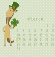 Calendar for march 2014 vector image