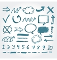 collection hand drawn highlighter elements vector image vector image