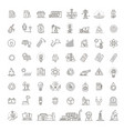 collection icons electric power vector image