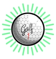 Color vintage golf emblems vector image