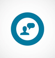 conversation bold blue border circle icon vector image