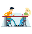 couple having coffee date flat design vector image