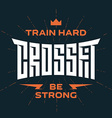 Crossfit emblem with original lettering and vector image vector image