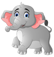Cute cartoon elephant posing vector image vector image