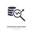 database analysing icon on white background