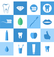 Dental hygiene Icon set vector image vector image