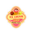 dessert icon for ice cream shop vector image vector image
