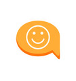 dialogue emotion face happy message smile speech vector image
