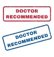 Doctor Recommended Rubber Stamps vector image vector image