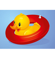 Duck Inflatable Circle vector image vector image