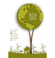 ecology concept with green eco earth vector image vector image