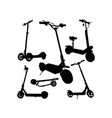 electric scooter silhouettes vector image