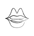 figure mouth with lipstick in the lips fashion vector image