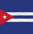 flag cuba swaying in the wind realistic vector image