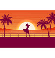 flat banner with summer travel landscapefashion vector image vector image