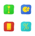 Four Icons in Handdrawn Style vector image vector image
