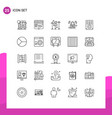 group 25 lines signs and symbols for business vector image vector image