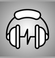 headphones icon headphones coffe in eps vector image vector image