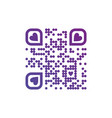 i love you qr code in purple color with hearts on vector image vector image