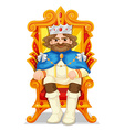 King sitting on the throne vector image