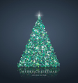 Merry Christmas tree from light background vector image vector image