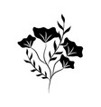 minimalist tattoo flower herb and leaves foliage vector image vector image
