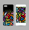 mobile phone cover design abstract colorful vector image vector image