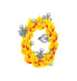 number 0 hellish flames and sinners font fiery vector image vector image