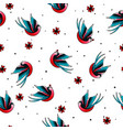 old school tattoo pattern 2 vector image vector image