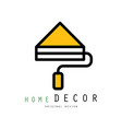 original logo template with paint roller vector image vector image