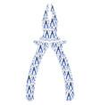 pliers icon composition vector image vector image