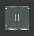 realistic 3d detailed glass door close vector image vector image